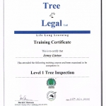 Jennys Tree Inspection Certificate